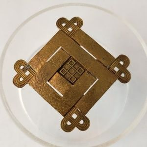 Marjorie Baer SF Square Geometric Modernist Brooch